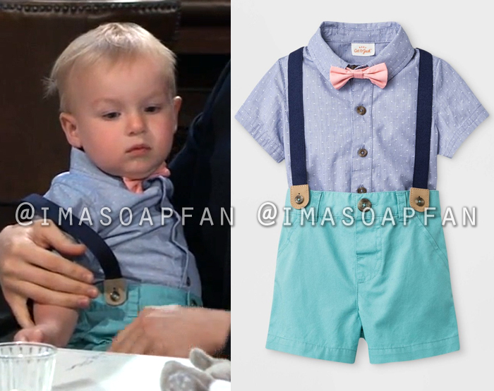Wiley Cooper-Jones, Baby Outfit with Bowtie and Suspenders, General Hospital, GH