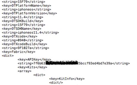API Keys almacenada de Servicios Terceros imagen