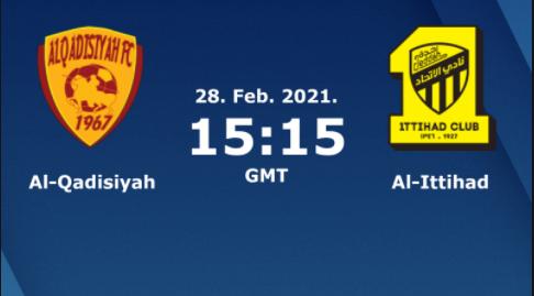 بث مباشر مباراة الاتحاد السعودي والقادسية