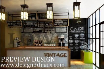 Jasa desain 3d cafe konsep chinese british style