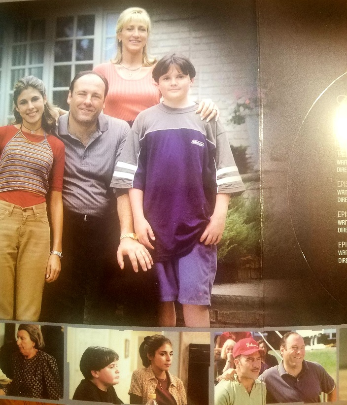 this is another photo from my box set of the Sopranos and their family photo from the tv series