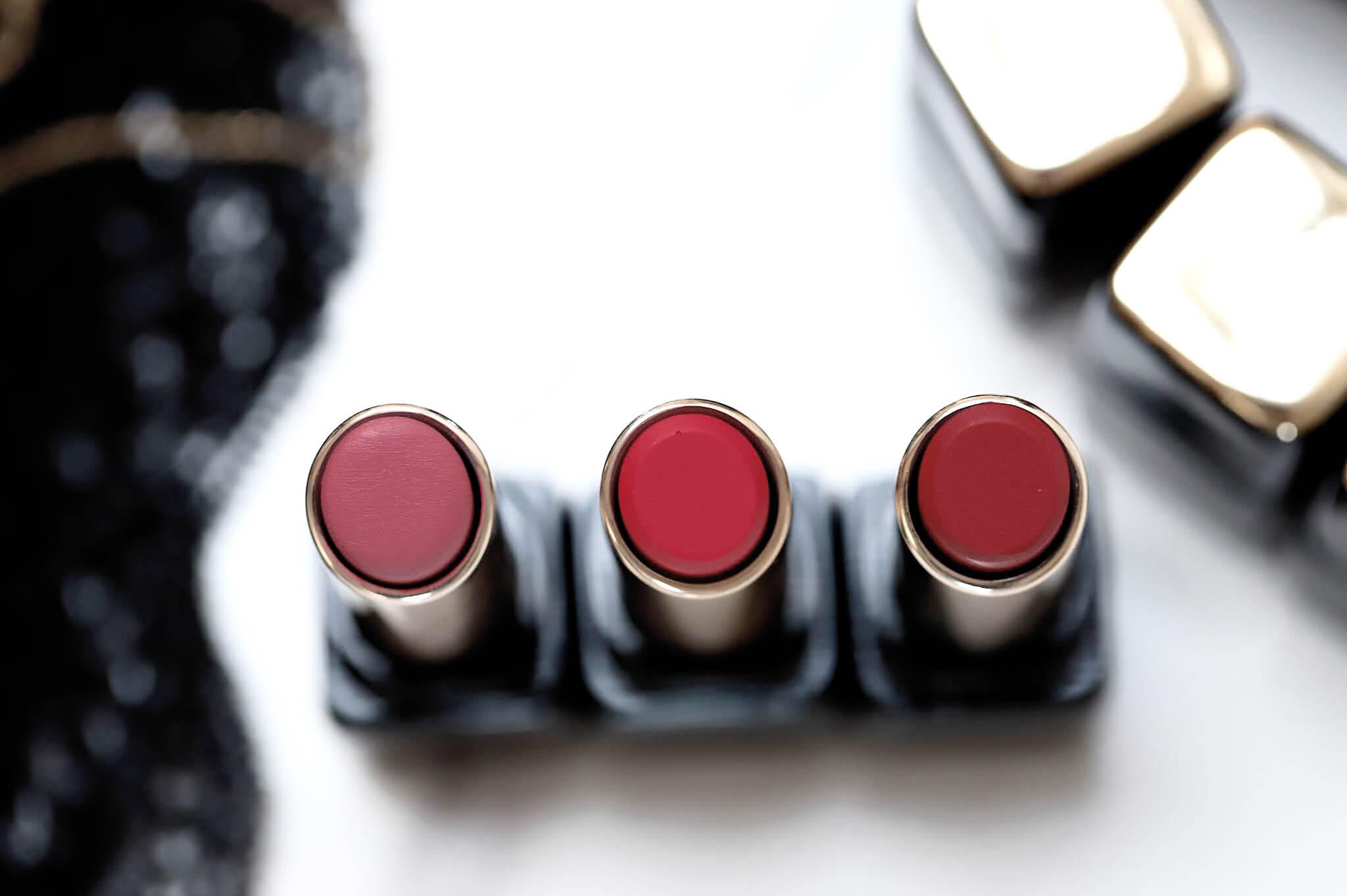 Guerlain Kiss Kiss tender Matte 940 My Rouge 219 Tender Rose 775 Kiss Rouge swatch