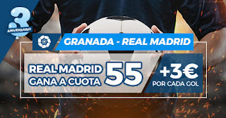 Paston Megacuota: Granada vs Real Madrid 13-7-2020