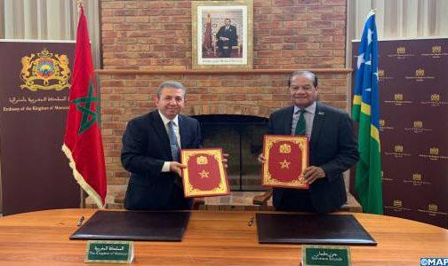المغرب وجزر سليمان عازمان على إعطاء زخم جديد لعلاقاتهما الثنائية