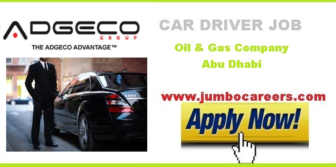 Car Driver Vacancy in Oil & Gas Petroleum Company Abu Dhabi