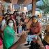 भाजपा महिला विंग ने जागरूकता अभियान चलाया,वैक्सीन लेने देने वालो को प्रोत्साहित किया