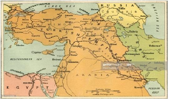 كردستان في خرائط الشرق الأوسط بين اعوام 1432 1925م Geo Strategic
