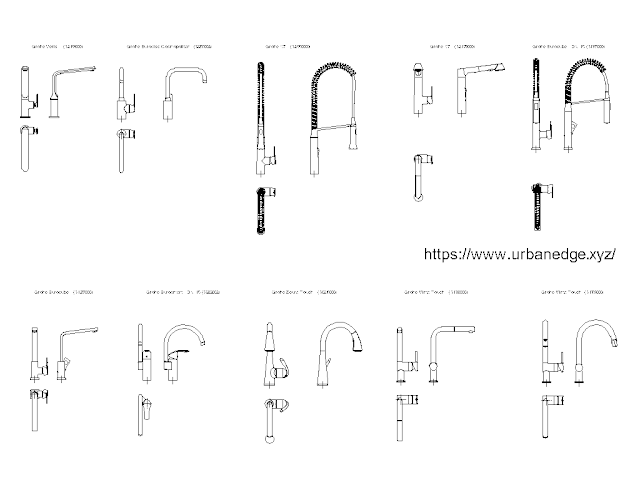 Grohe Kitchen faucets free cad blocks download - 30+ free cad blocks download