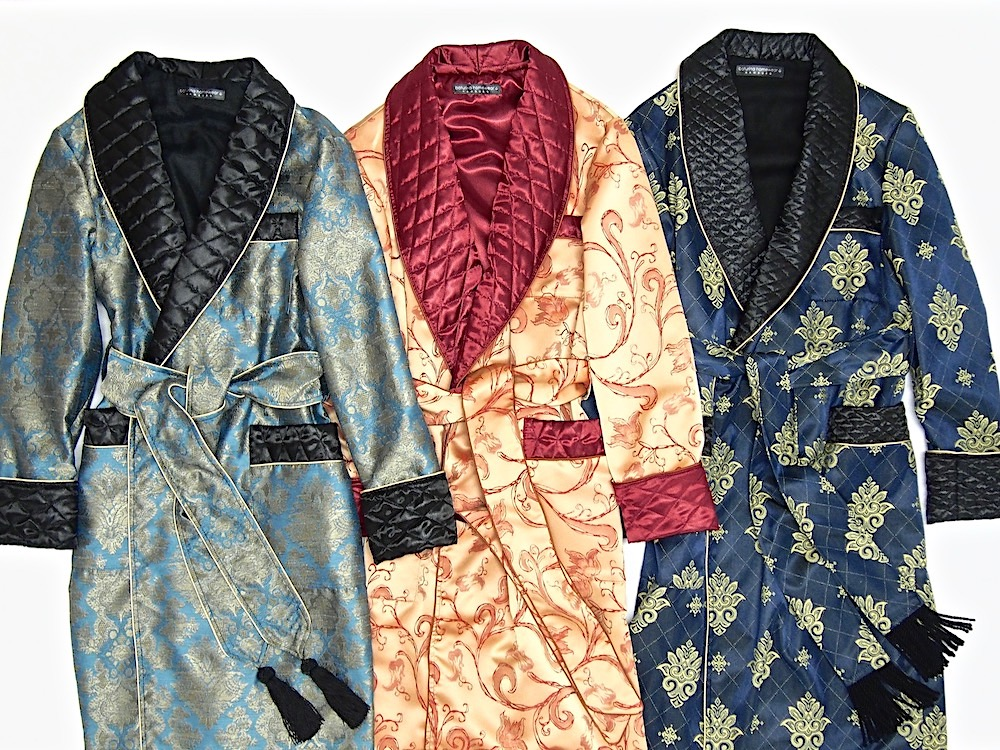 Men\'s Cotton and Silk Paisley Dressing Gowns