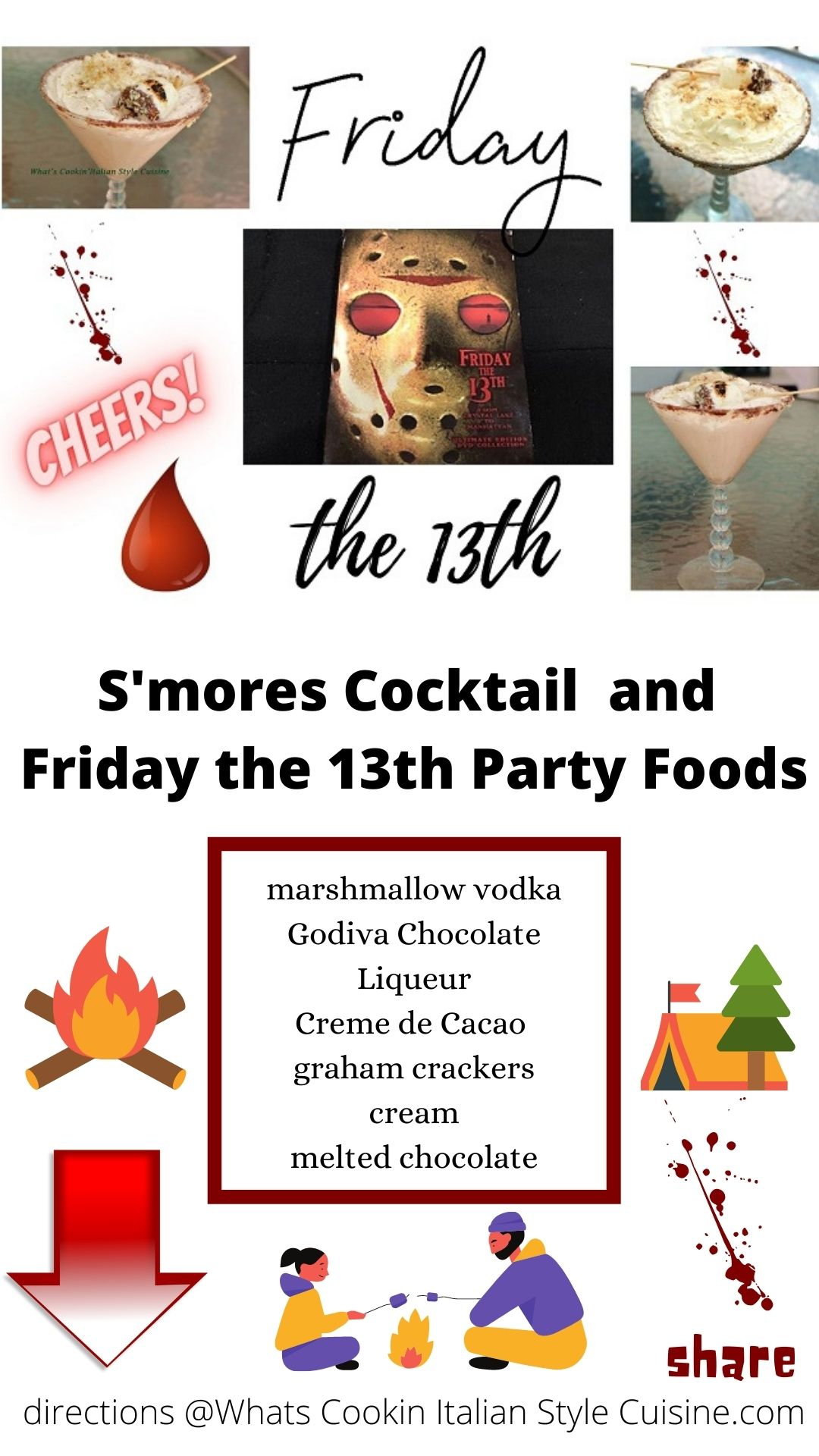 pin for later friday the 13th cocktail with a campfire smore cocktail