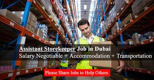 Assistant Storekeeper Job in Warehouse Dubai | Salary AED 5001-7000