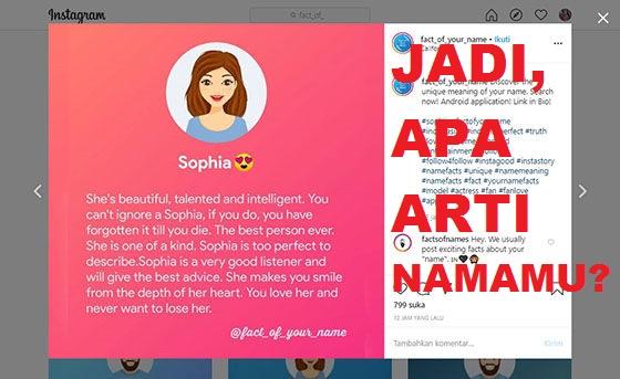 Cara Membuat Fact of Your Name Online Tanpa Aplikasi