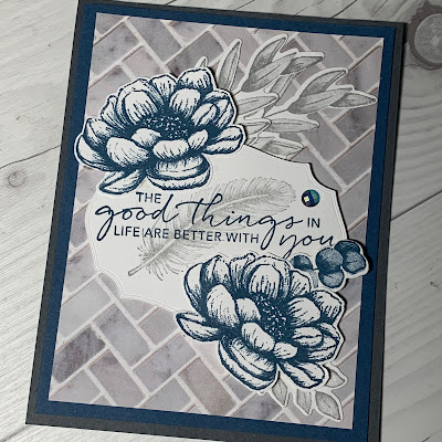 Floral Handmade Greeting Card using Stampin' Up! Tasteful Touches Stamp Set