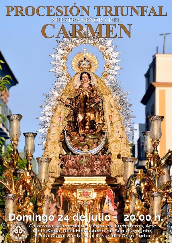 Horario e Itinerario Procesión de la Hdad. Carmen de Calatrava de Sevilla 2019