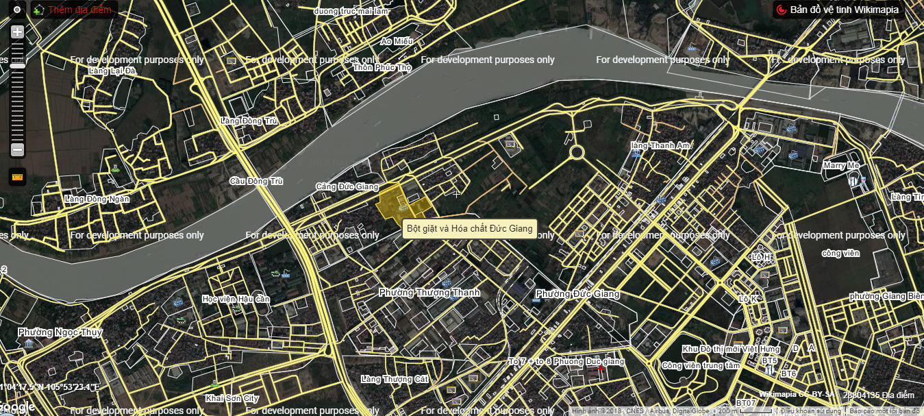Vị trí chung cư Đức Giang Residence.