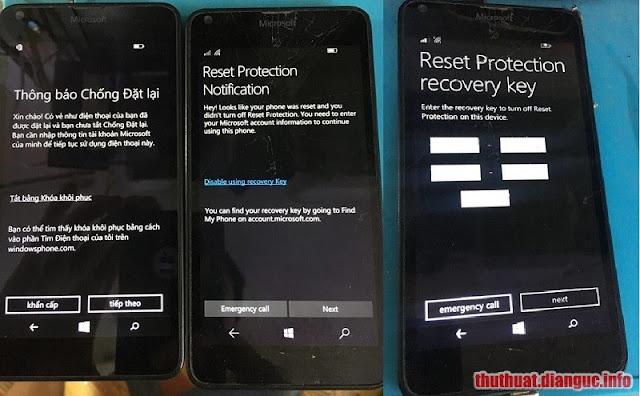 Hướng dẫn vượt lỗi Chống Đặt Lại (Reset Protection) trên các dòng Lumia