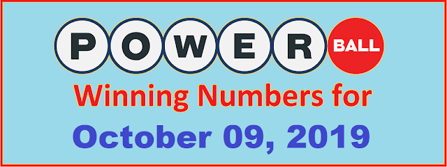 PowerBall Winning Numbers for Wednesday, October 09, 2019
