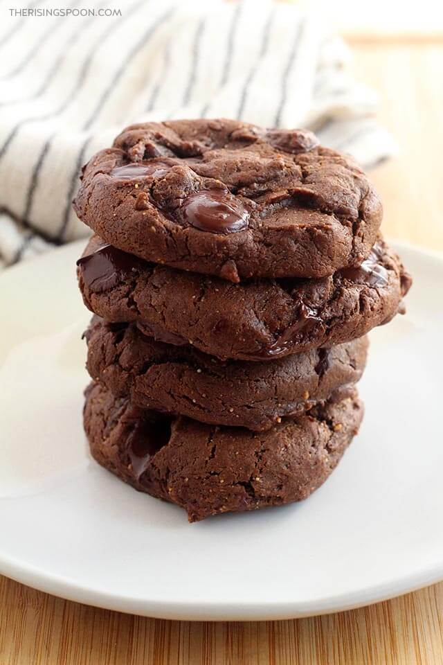 Soft Double Chocolate Peanut Butter Cookies (Quick & Easy Flourless Recipe)