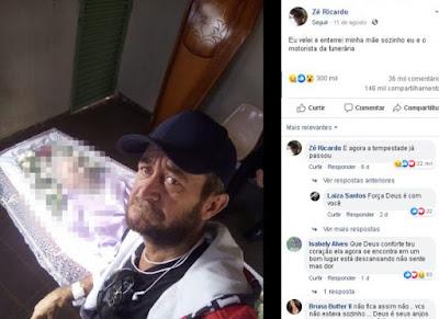 Homem que enterrou mãe sozinho e recebeu vaquinha online é queimado vivo