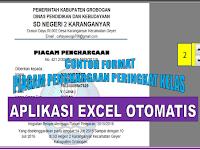 aplikasi Excel cetak Piagam Penghargaan Peringkat Kelas dan Kegiatan lainnya