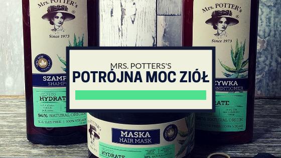 Mrs. Potter's - zestaw nawilżający do włosów Potrójna Moc Ziół (szampon, odżywka i maska)