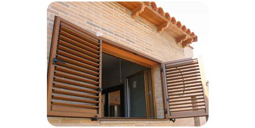 Marzua persianas mallorquinas for Aberturas pvc simil madera precios