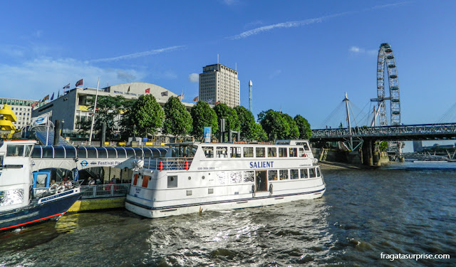 Transporte em Londres - barcos