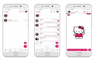 Hello Kitty 6 Theme For YOWhatsApp & Delta WhatsApp By Leidiane