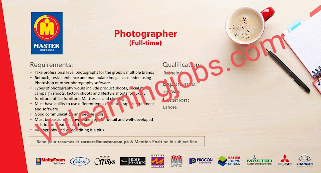 Master Group of Industries Jobs 2020 In Pakistan For Photographer Latest