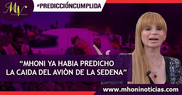 Mhoni Vidente ya había predicho la caída de un avión en México