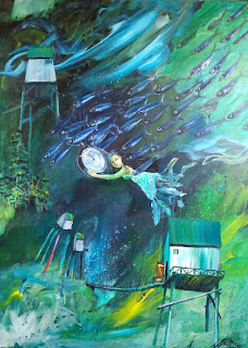 time flyes, maleri,galley,galleri,ayoelise,symbolik,storytelling,maleri til salg, kunst