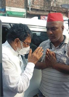 सपा नेता के घर सांत्वना देने पहुंचे नेता प्रतिपक्ष रामगोविन्द चौधरी | #NayaSaberaNetwork