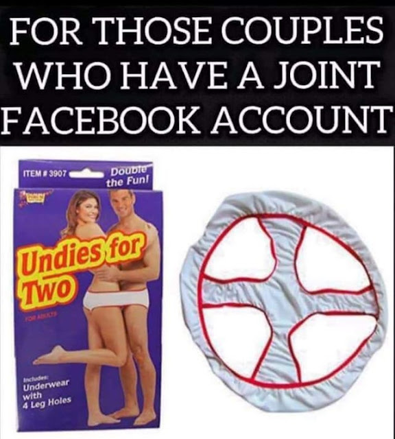 That almost looks as uncomfortable as having a joint fb account