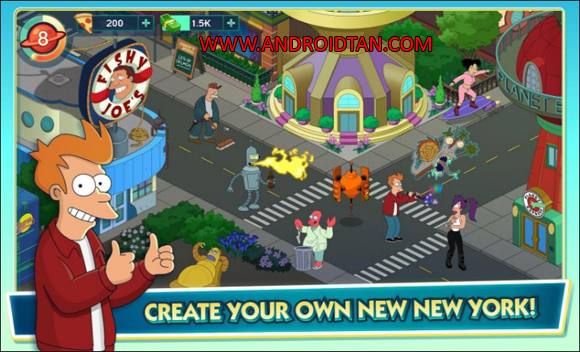Futurama Worlds of Tomorrow Mod Apk Unlimited Money