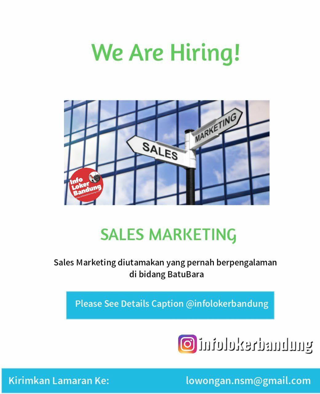 Lowongan Kerja Sales Marketing Niaga Sejahtera Makmur Bandung Desember 2019