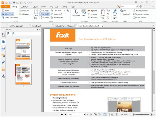 تنزيل فوكسيت ريدر لتشغيل المستندات