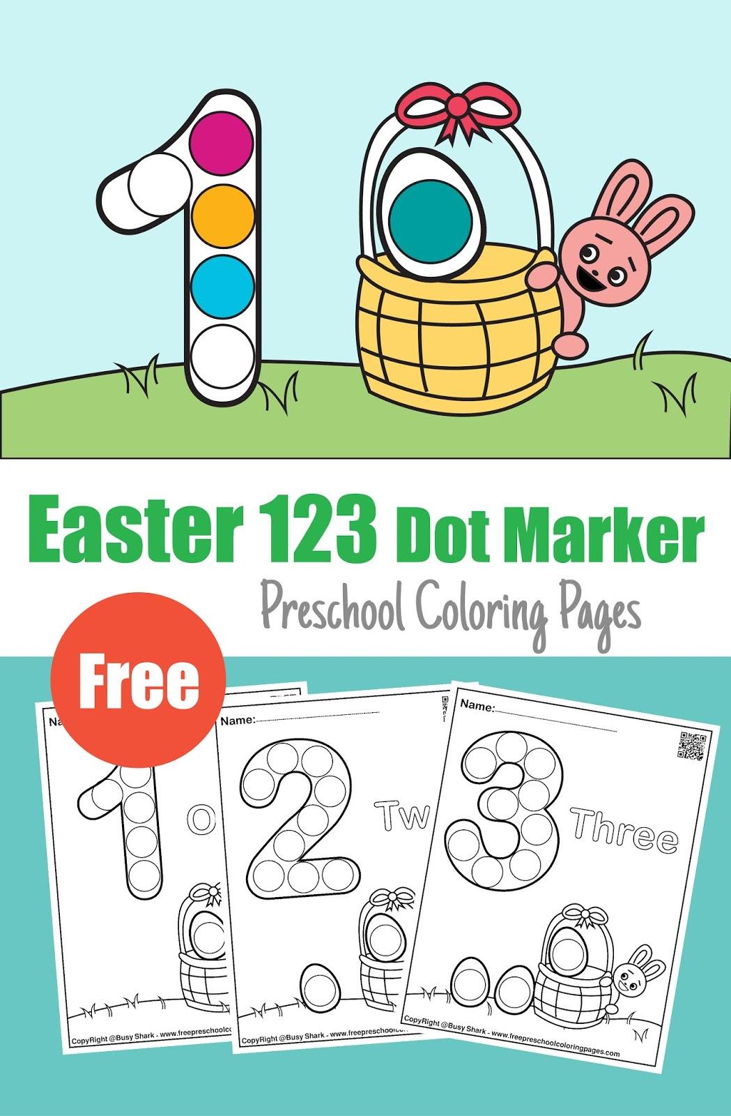 123 Easter Dot Marker Activity