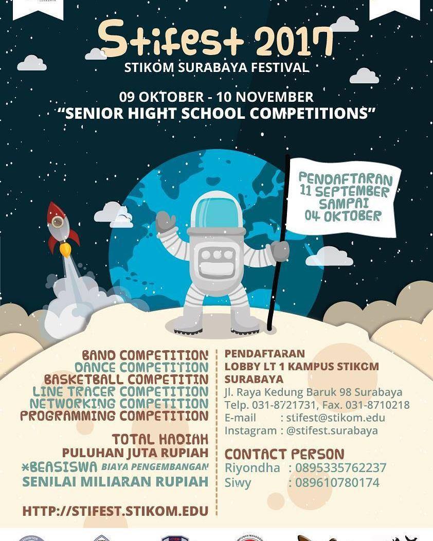 Stikom Surabaya Festival (STIFEST) 2017 | Stikom | SMA Sederajat