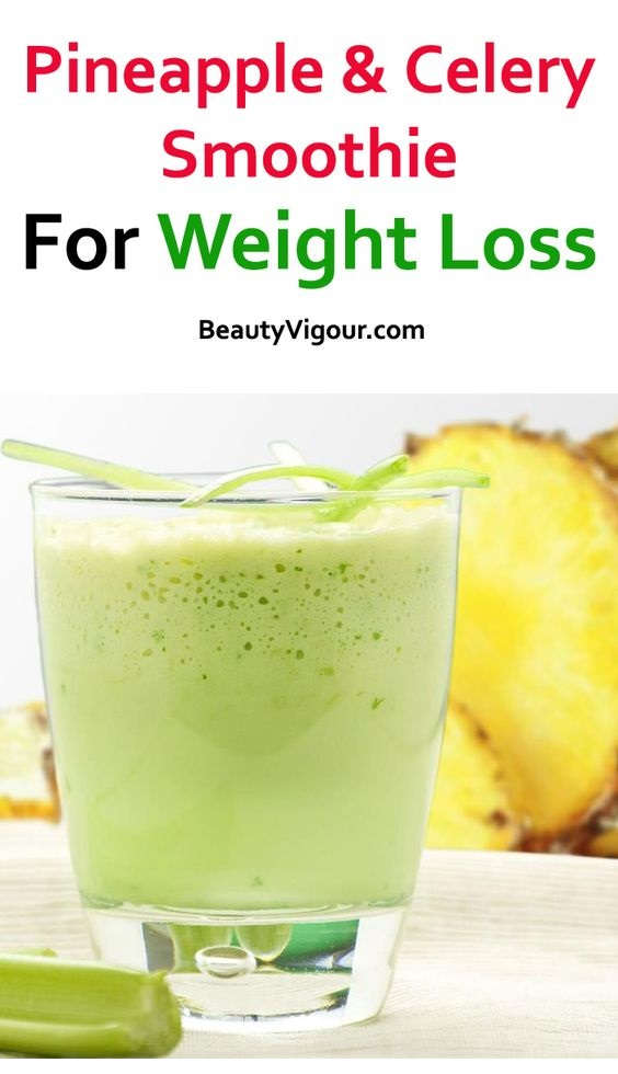 Pineapple and Celery Shake to Lose Weight and Eliminate Toxins