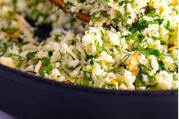 Healthy Garlic Herb Cauliflower Rice