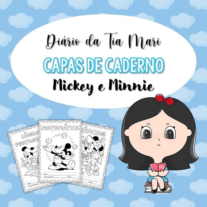 Capas de Caderno - Mickey & Minnie