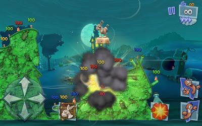 لعبة حرب الديدان Worms 3 مدفوعة للاندرويد