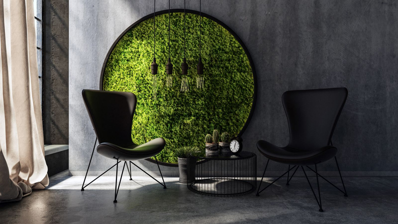 Moss Tiles Are The Coolest Way To Bring The Outdoors Inside