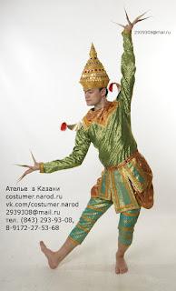 костюм для сиамского танца