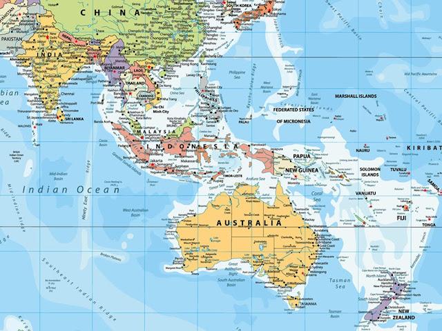 Australian Map of the World