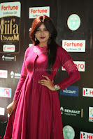 Monal Gajjar in Maroon Gown Stunning Cute Beauty at IIFA Utsavam Awards 2017 073.JPG