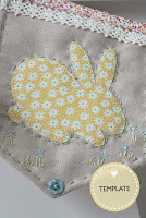 Easter Bunnies Applique Template