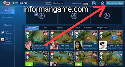 cara aktifkan streaming mobile legend