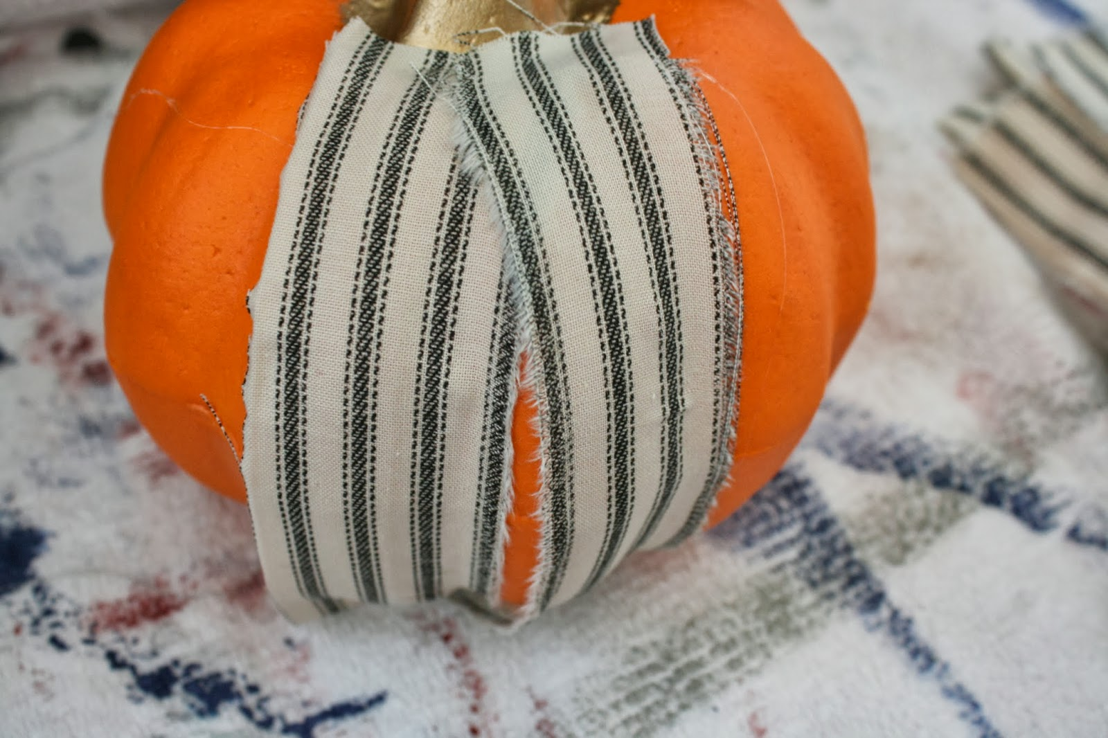Dirt Stains and Paint: Vintage Fabric Pumpkins