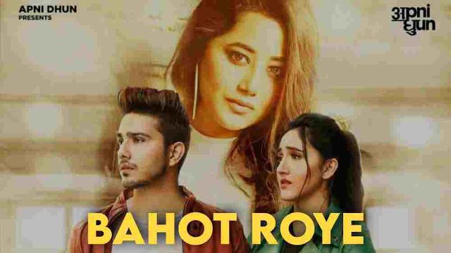Bahot Roye Lyrics :- Payal Dev   Ashnoor Kaur & Sunny Chopra, bahot roye lyrics
